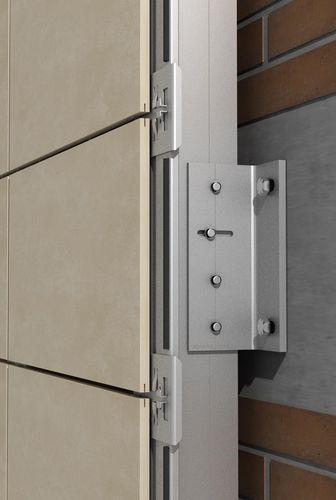 sistema de anclaje de metal / para fachada ventilada / para revestimiento de fachada / para exterior