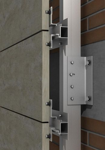 Sistema de fijación de acero inoxidable / aluminio / para revestimiento / para fachada ventilada PF-ALU-HTR SISTEMA MASA SL