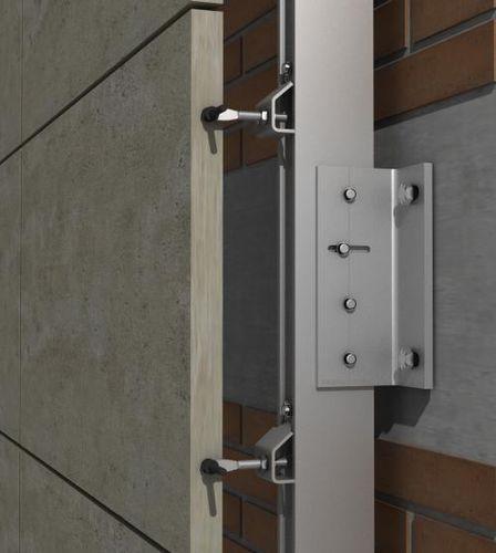 Sistema de fijación de acero inoxidable / para revestimiento / para fachada ventilada / para exterior PF-ALU-CLA SISTEMA MASA SL