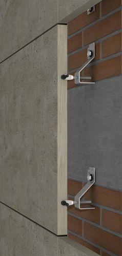 sistema de anclaje de acero inoxidable / para fachada