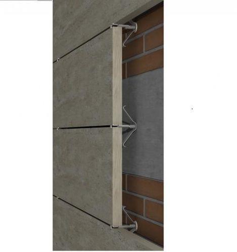 Sistema de fijación metal / de acero inoxidable / para revestimiento / para fachada ventilada GR-ESP-PI SISTEMA MASA SL