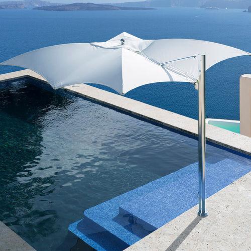 sombrilla lateral / para el sector servicios / de tejido / de aluminio