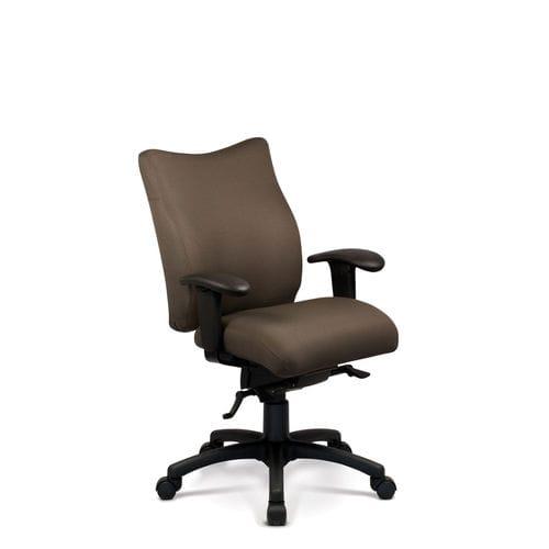 silla de oficina moderna / con ruedas / con patas en forma de estrella / con reposabrazos