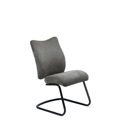 silla de visita moderna / tapizada / cantilever / de tejido