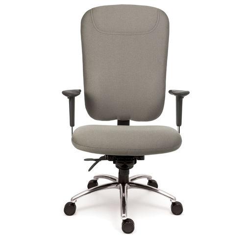 sillón de oficina moderno / de tejido / de cuero / de metal