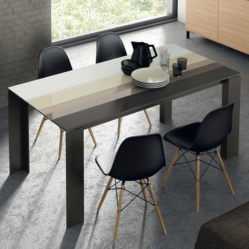 Mesa de comedor moderna / de madera / de cerámica / de vidrio lacado T07  VIVE - MUEBLES VERGE S.L.