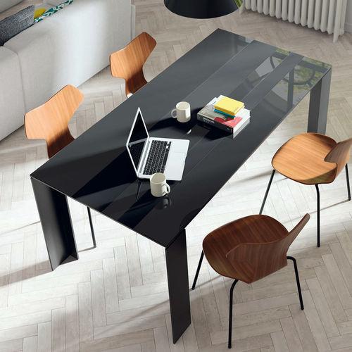 Mesa de comedor moderna / de madera / de cerámica / de vidrio lacado T09  VIVE - MUEBLES VERGE S.L.