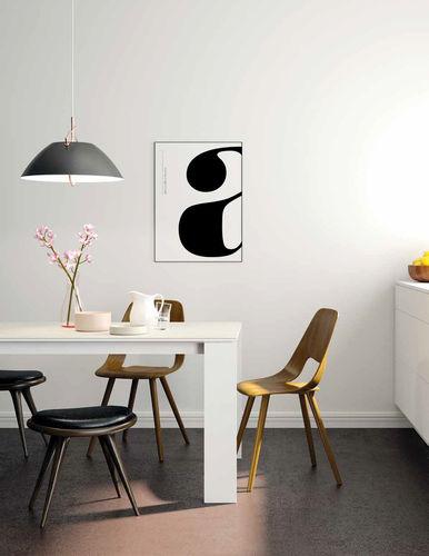 Mesa de comedor moderna / de madera / de cerámica / de vidrio lacado M03 VIVE - MUEBLES VERGE S.L.