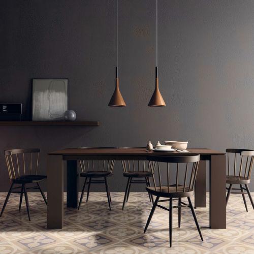 Mesa de comedor / moderna / de madera / de cerámica T06  VIVE - MUEBLES VERGE S.L.