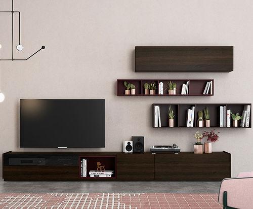 Mueble TV moderno / de roble FRENTES : TV03 VIVE - MUEBLES VERGE S.L.