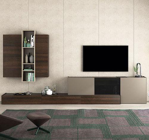 Mueble TV moderno / de madera lacada / de roble / de vidrio lacado FRENTES : TV10  VIVE - MUEBLES VERGE S.L.