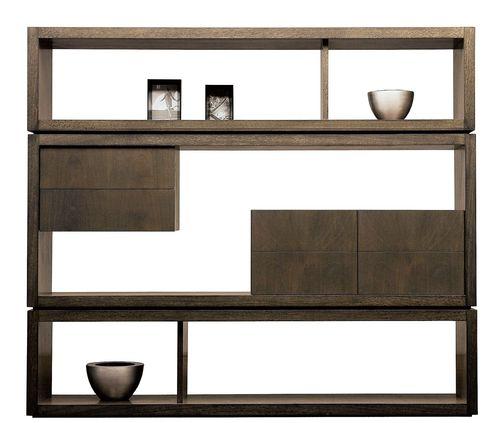 estantería biombo / moderna / de madera / para oficina