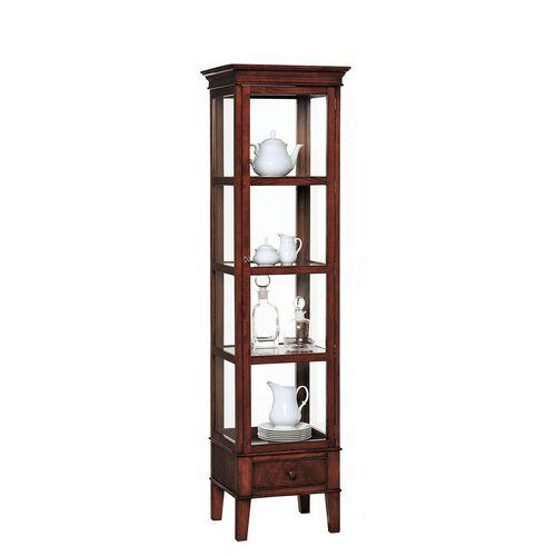 vitrina de estilo victoriano / de vidrio / de madera