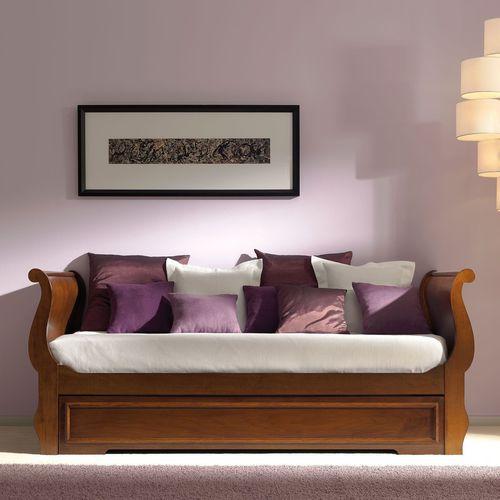 cama nido / individual / de estilo victoriano / de nogal