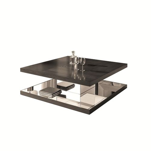 mesa de centro moderna / de nogal / rectangular / cuadrada