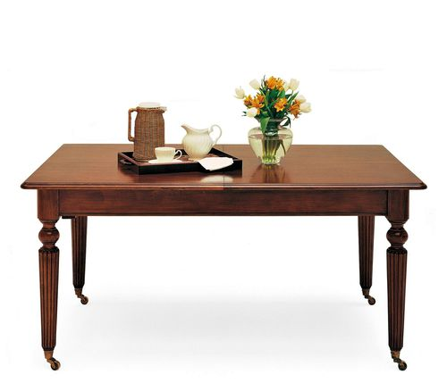 mesa de comedor de estilo victoriano / de nogal / rectangular / residencial