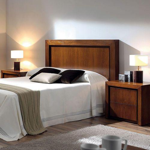 cabecero para cama doble / moderno / de haya / de nogal