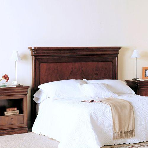 cabecero para cama doble / de estilo victoriano / de nogal / de haya
