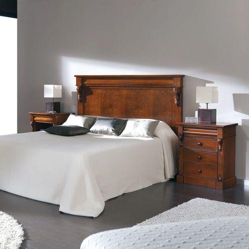 cabecero para cama doble / de estilo victoriano / de haya / de nogal