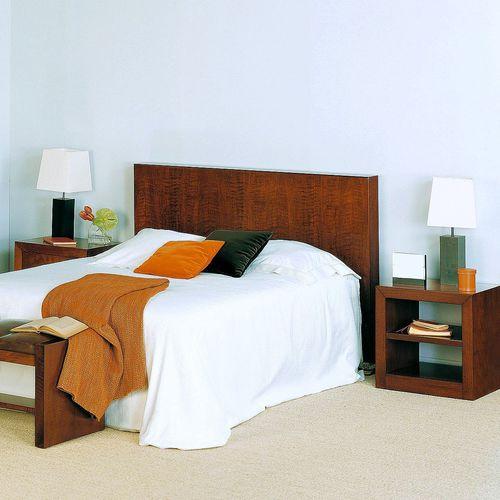 cabecero para cama doble / moderno / de nogal