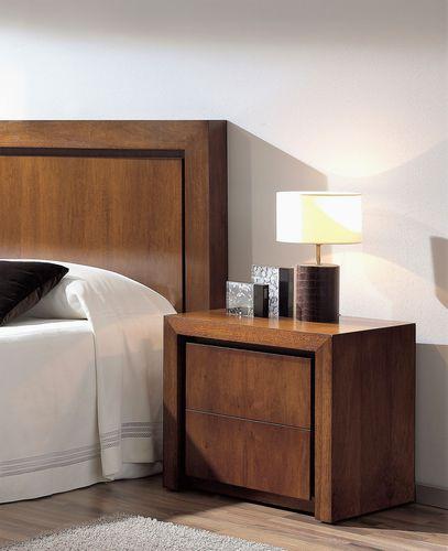 mesilla de noche moderna / de nogal / de haya / rectangular