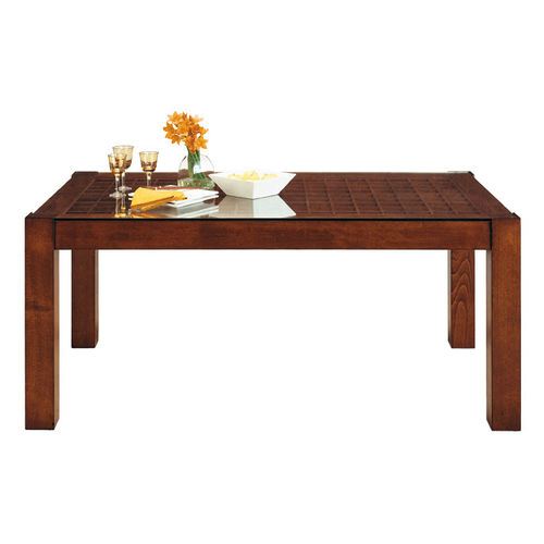 mesa moderna / de madera / de vidrio / rectangular