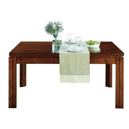 mesa de comedor moderna / de nogal / de haya / rectangular