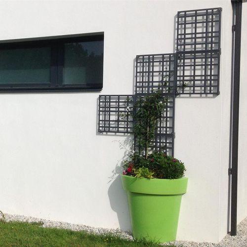 enrejado para fachada / de metal pintado / de acero galvanizado