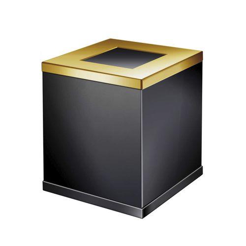 cubo de basura de baño / de latón / moderno