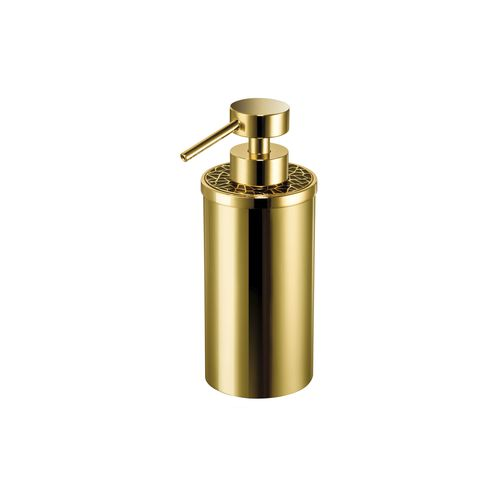 dispensador de jabón para el sector servicios / de libre instalación / de latón / de cristal Swarovski®