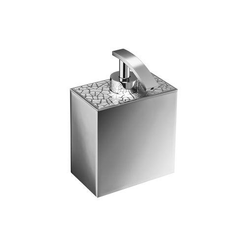 dispensador de jabón para el sector servicios / de libre instalación / de latón cromado / de latón chapado en oro