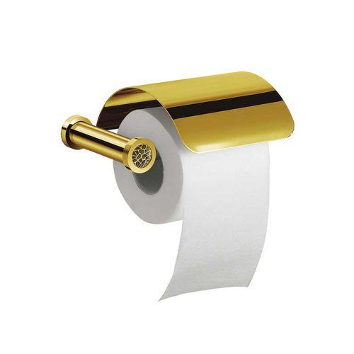 dispensador de papel higiénico de pared / de latón cromado / de latón chapado en oro / de cristal Swarovski®