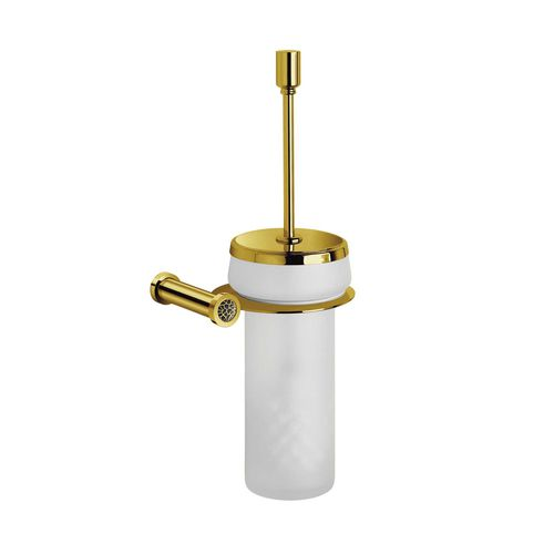 escobilla para inodoro de latón cromado / de latón chapado en oro / de cristal Swarovski® / de cristal