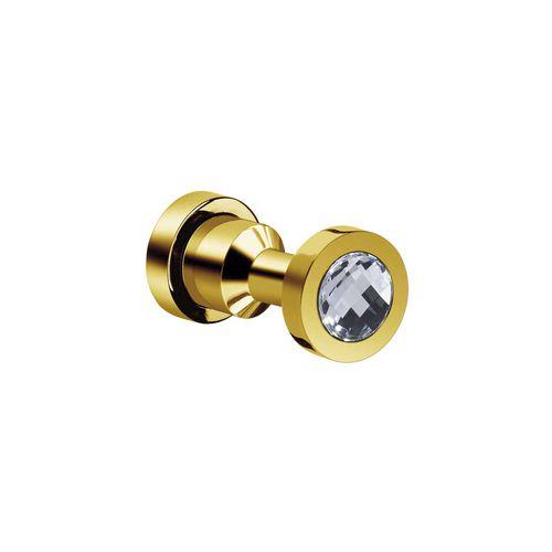 percha moderna / de latón / de cristal Swarovski® / de baño