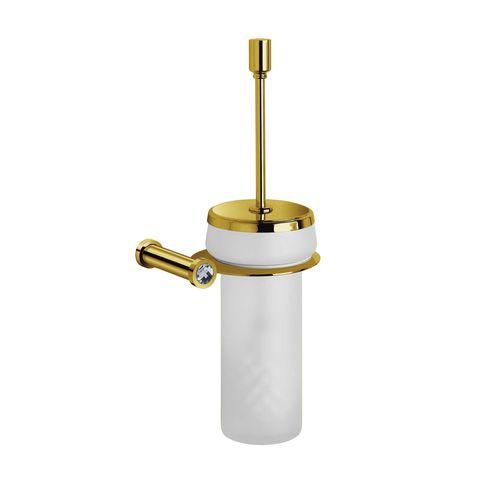 escobilla para inodoro de cristal Swarovski® / de cristal / de latón / de pared