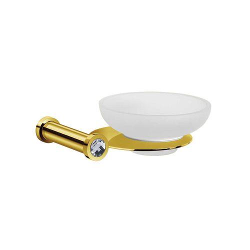 jabonera de pared / de latón / de cristal / de cristal Swarovski®