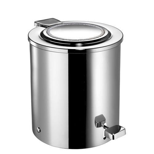 cubo de basura de baño / de latón / de cristal Swarovski® / con pedal