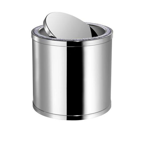 cubo de basura de baño / de latón / de cristal Swarovski® / moderno