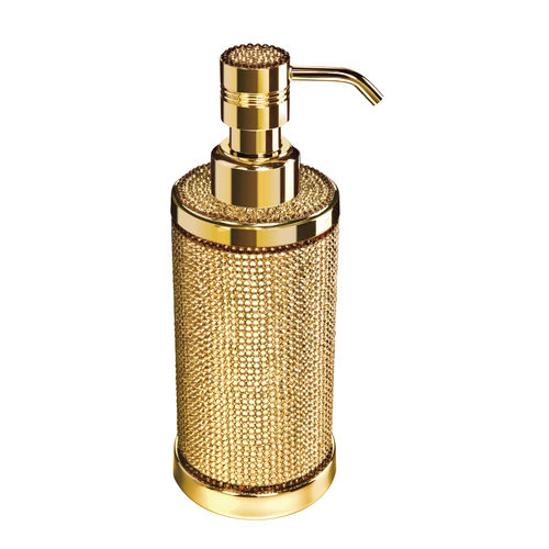 dispensador de jabón de libre instalación / de latón / manual
