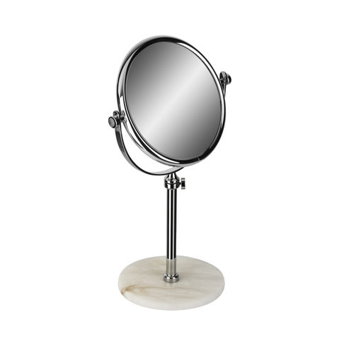 espejo para baño de pie / de doble cara / redondo