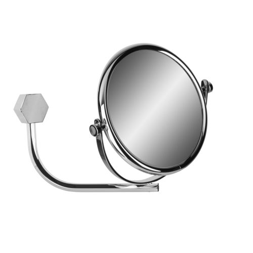 espejo para baño de pared / de doble cara / de diseño original / redondo