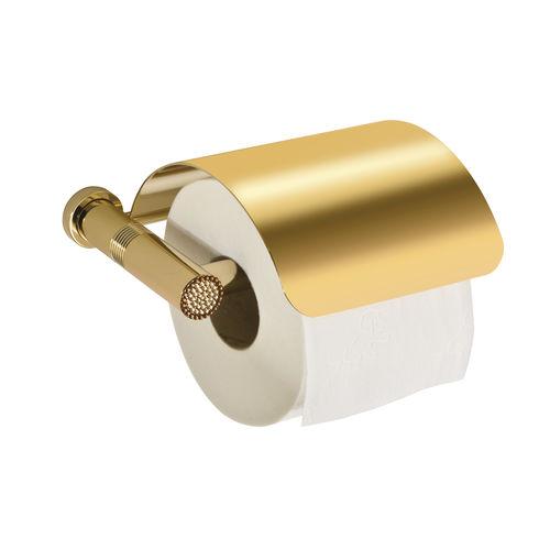 dispensador de papel higiénico de pared / de latón / para el sector servicios