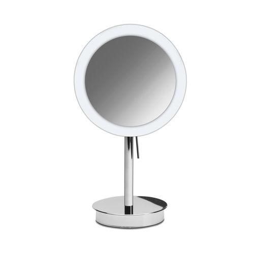 espejo para baño de sobremesa / de aumento / con luz LED / moderno