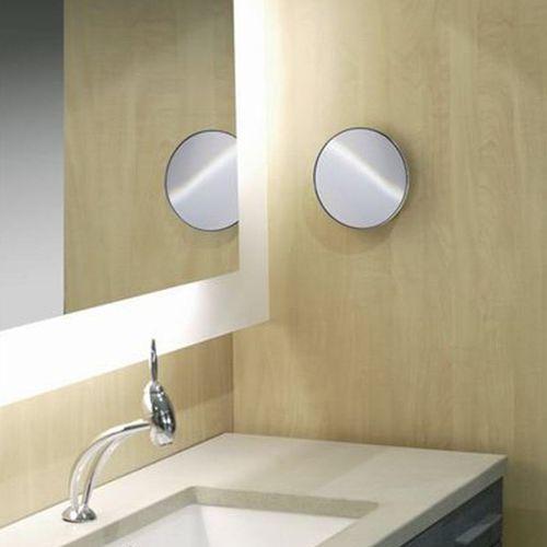 espejo para baño de pared / de aumento / moderno / redondo