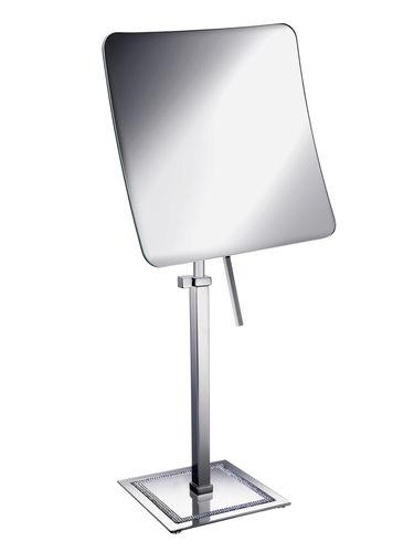 espejo para baño de sobremesa / de aumento / moderno / cuadrado