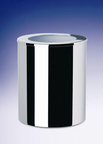 cubo de basura de baño / para suelo / de metal / moderno