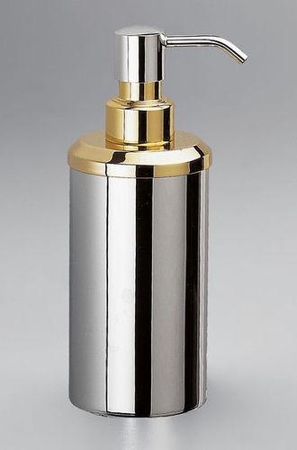 dispensador de jabón para el sector servicios / de libre instalación / de latón / manual