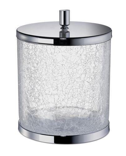 cubo de basura de baño / para suelo / de vidrio / moderno