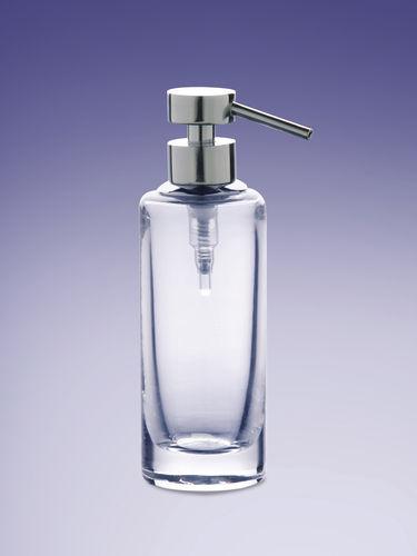 dispensador de jabón para el sector servicios / de libre instalación / de acero inoxidable / manual