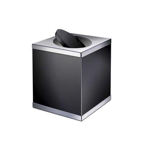 cubo de basura de baño / para suelo / de latón / con tapa basculante